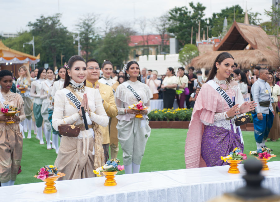 Dolgion Delgerjav, Miss Mongolia 2018; and Rahima Dirkse, Miss Netherlands 2018; attend the Royal Winter Festival in Bangkok, Thailand on December 8th. The Miss Universe contestants are touring, filming, rehearsing and preparing to compete for the Miss Universe crown in Bangkok, Thailand. Tune in to the FOX telecast at 7:00 PM ET live/PT tape-delayed on Sunday, December 16, 2018 from the IMPACT Arena in Bangkok, Thailand to see who will become the next Miss Universe. HO/The Miss Universe Organization