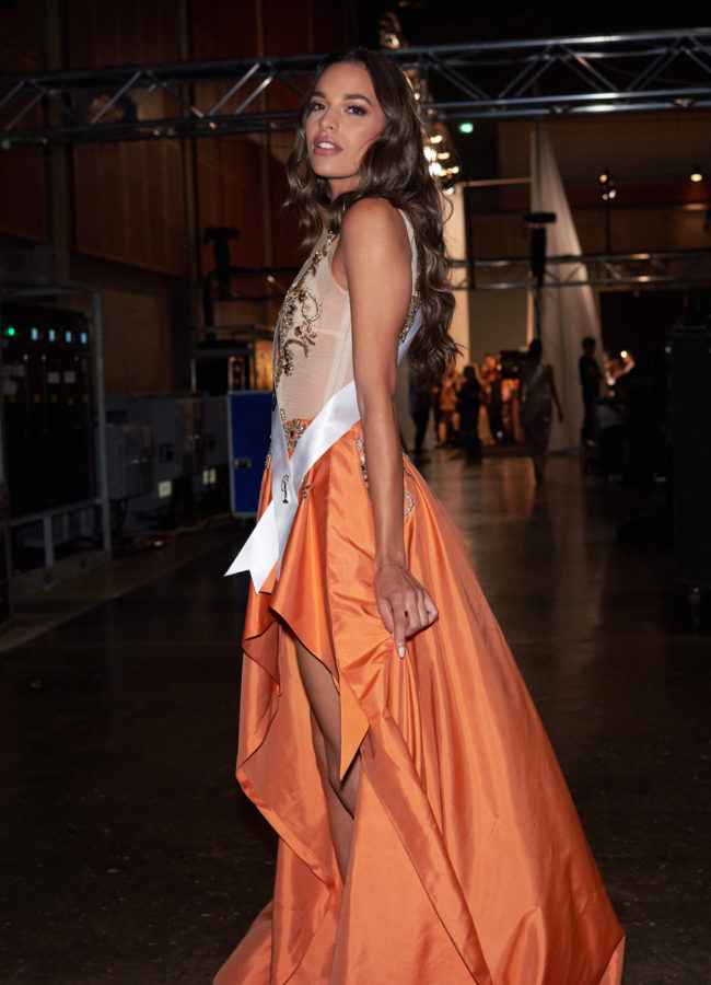 Rahima Dirkse, Miss Netherlands 2018 backstage during the MISS UNIVERSE® Preliminary Competition at IMPACT Arena in Bangkok, Thailand on Thursday, December 13th. The Miss Universe contestants have been touring, filming, rehearsing and preparing to compete for the Miss Universe crown in Bangkok, Thailand. Tune in to the FOX telecast at 7:00 PM ET live/PT tape-delayed on Sunday, December 16, 2018 from the IMPACT Arena in Bangkok, Thailand to see who will become the next Miss Universe. HO/The Miss Universe Organization